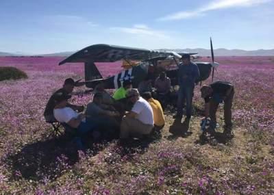 Chile: Once pilotos aterrizan en pleno desierto