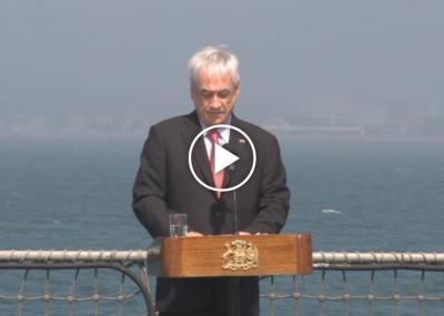 Presidente Piñera llama a la unidad en ceremonia de conmemoración del 27/F