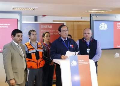 Alerta por posibles aluviones en regiones de Atacama y Coquimbo — Onemi