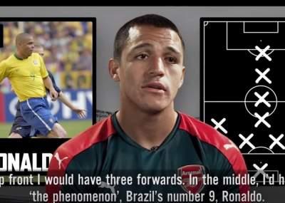Conoce el once soñado de Alexis Sánchez con Maradona, Messi y Pelé